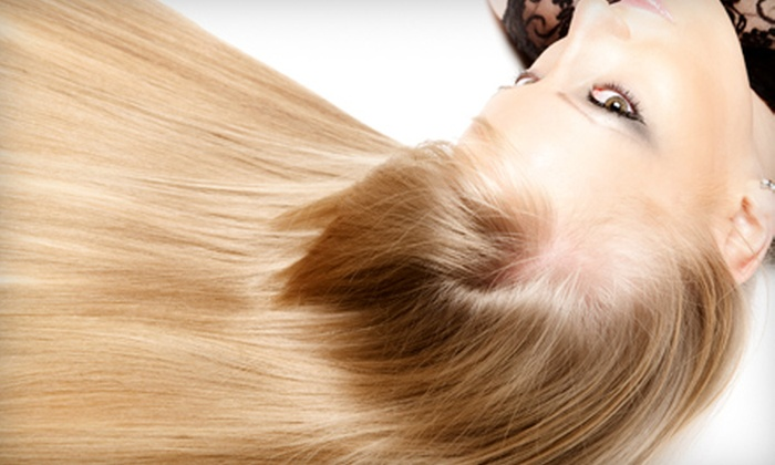 Blossom Salon - Santa Barbara Downtown: $99 for a Brazilian Gloss or Keratin Complex Smoothing Treatment at Blossom Salon ($250 Value)