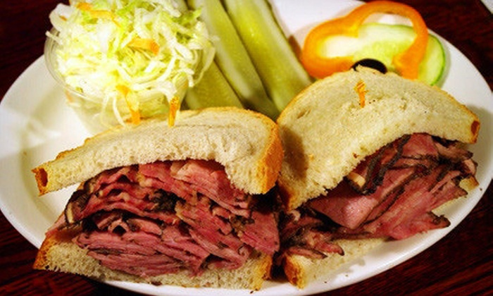 Mendy's Restaurant - Multiple Locations: $19 for a Deli Meal for Two with Sandwiches and Small Soups at Mendy's Restaurant (Up to $37.80 Value)