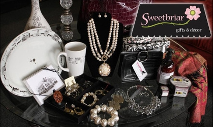 Sweetbriar Gifts - North Main Area: $15 for $30 Worth of Jewelry, Home Décor, and More at Sweetbriar Gifts