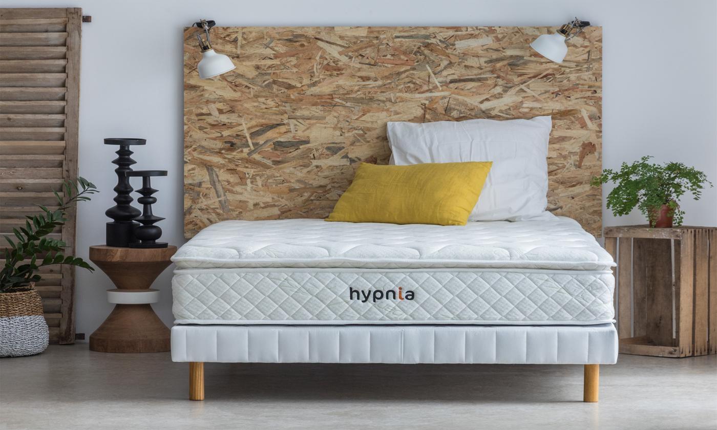 Matelas 7 zones de confort Bambou avec ressort ensachés et accueil mémoire de forme, marque Hypnia, livraison offerte