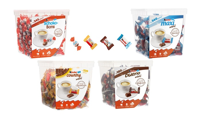 Groupon Goods Global GmbH: Kinder® Schoko-Bons, Bueno, Maxi, Country... Box à partager