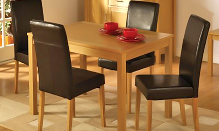 Super Pair Of Leather Effect Dining Chairs In Choice Of Colours For 54 98 Free Delivery 58 Off Gamerscity Chair Design For Home Gamerscityorg