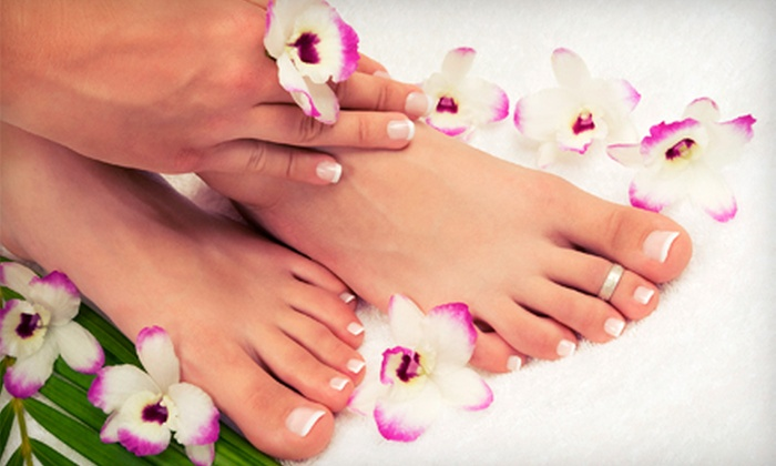 Softouch Permanent Makeup - Kenner: One or Two Mani-Pedis at Softouch Permanent Makeup (Up to 55% Off)