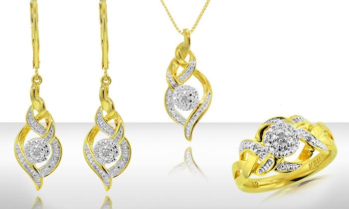 1/10 CT. T.W. Diamond 3-Piece Jewelry Set: 3-Piece Diamond Jewelry Set. Free Shipping and Returns