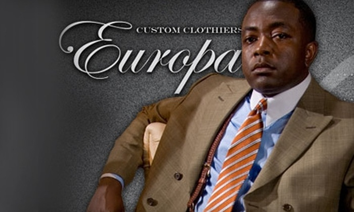 Europa Custom Clothiers - Brighton: $75 for $200 Worth of Custom Shirts, Suits, and More at Europa Custom Clothiers