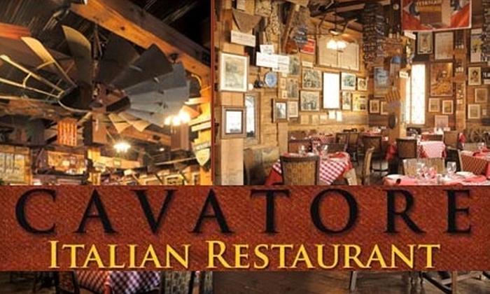 Cavatore Italian Restaurant - Greater Heights: $20 for $40 Worth of Authentic Italian Cuisine at Cavatore Italian Restaurant