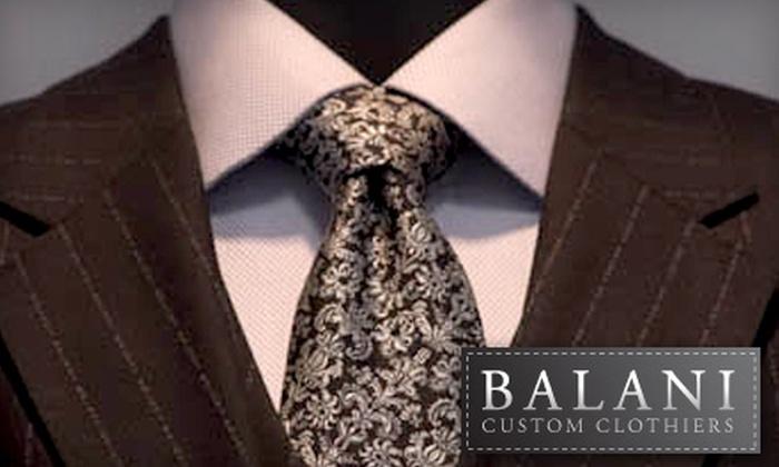 Balani Custom Clothiers - Loop: $617 for the Men's Complete Suit Package at Balani Custom Clothiers