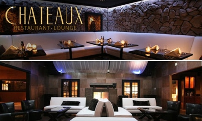Chateaux - Irvine Business Complex: $25 for $50 Worth of Upscale Fare and Drinks and Two Nightclub Passes at Chateaux ($70 Total Value)
