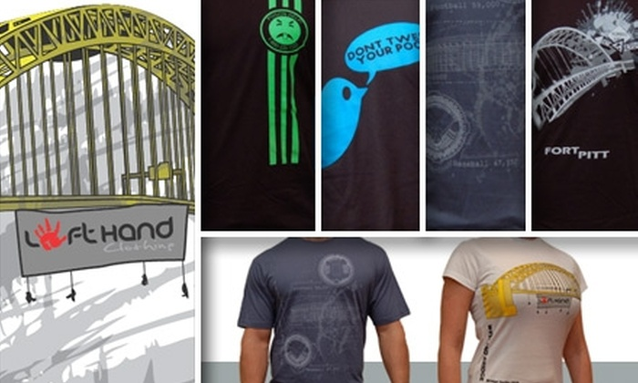 Left Hand Clothing - Pittsburgh: $15 for $35 Worth of T-Shirts at Left Hand Clothing