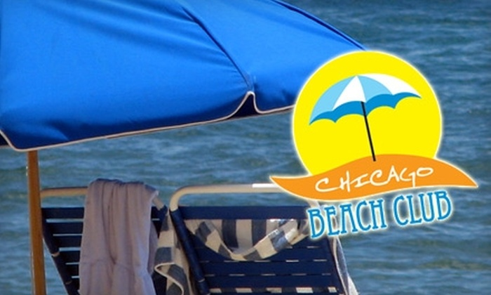 Chicago Beach Club - Near North Side: $39 for Unlimited Beach-Chair Rentals and Membership to Bike and Roll's Chicago Beach Club