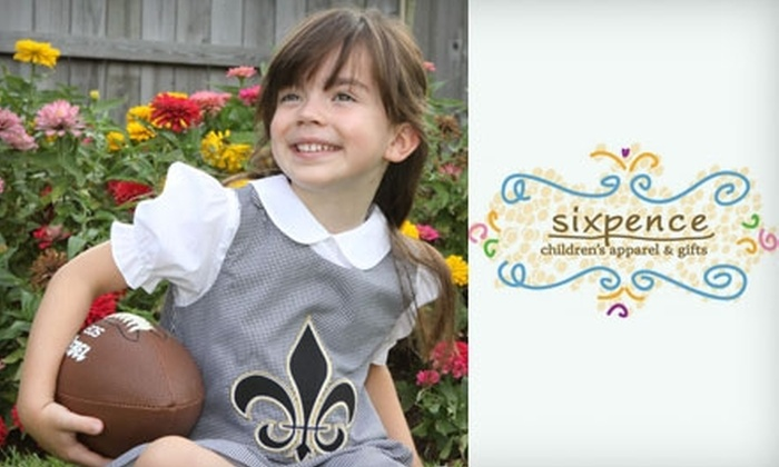 Sixpence Children's Apparel and Gifts - Mandeville: $15 for $30 Worth of Children's Apparel and Gifts at Sixpence Children's Apparel and Gifts in Mandeville