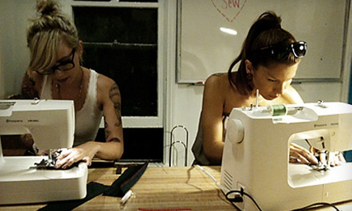 8-Limbs - Silver Lake: Sewing Machine Operation Class or Intro to Clothing Construction Class at 8-Limbs (Half Off)