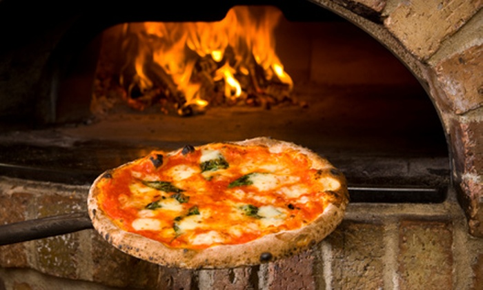 Goodfella's LES - Lower East Side: $22 for Pizza Dinner for Two with Appetizer, Specialty Pizza, Dessert, and Wine at Goodfella's LES (Up to $50 Value)