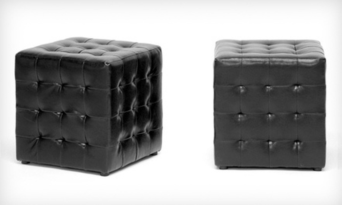 Two Siskal Black Tufted Cube Ottomans: $79 for Two Baxton Studio Siskal Black Tufted Modern Cube Ottomans ($189.99 List Price). Free Shipping.