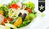 Salat-Mix und Smoothie oder Saft