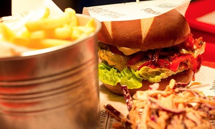 Burger or Hot Dog Meal with Drink for One or Two at Coyote Ugly (Up to 58% Off)