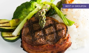 Lafayette House: American Steakhouse Cuisine for Dinner or Lunch at Lafayette House (Up to 42% Off)