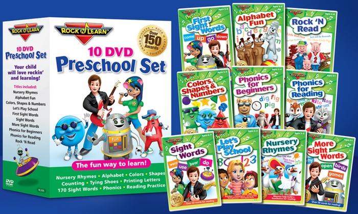 10-DVD Preschool Pack: Rock 'N Learn 10-DVD Preschool Pack