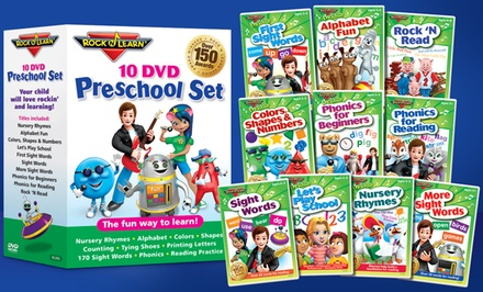 Rock 'N Learn 10-DVD Preschool Pack
