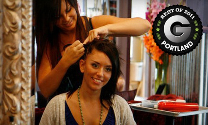 Vanity Junkie - Buckman: $60 for Haircut, Blow-Dry, Style, and Partial Weave at Vanity Junkie (Up to $150 Value)