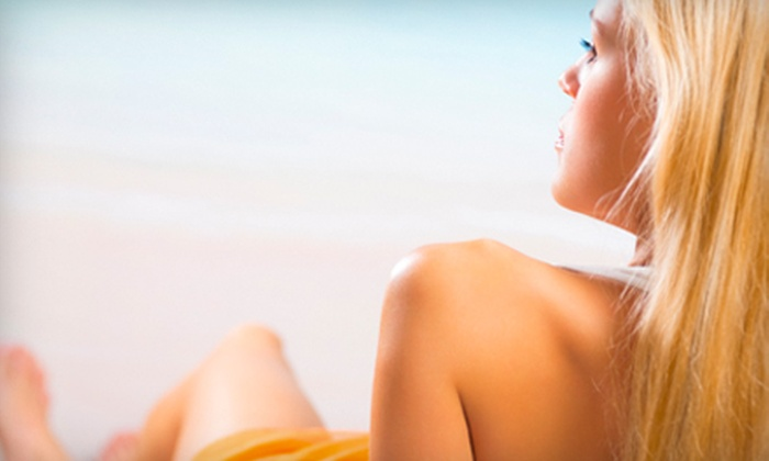 Image Sun Tanning Centers - Cinco Ranch: $15 for One Month of Tanning or Two Spray Tans at Image Sun Tanning Centers in Katy ($29.95 Value)