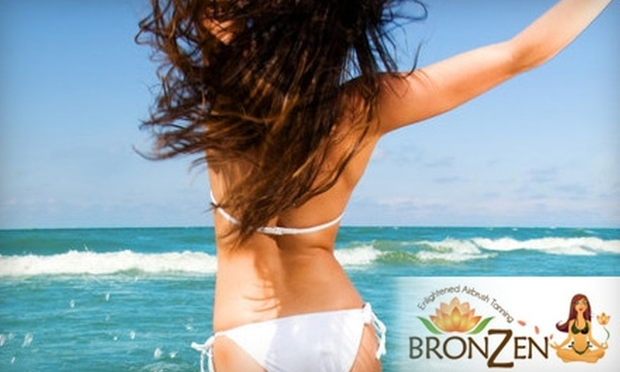 BronZen Airbrush Tanning - Zilker: $18 for One Mobile Airbrush Tan ($50 Value) or $69 for Three Mobile Airbrush Tans, Plus a Tube of Tan Extender ($164 Value) from BronZen Airbrush Tanning