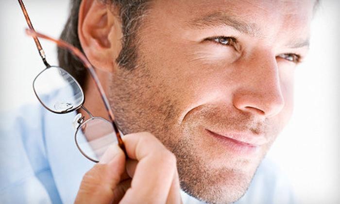 V EYE P Eyecare & Eyewear - Northwest Carrollton: Eye Exam with Option for Contacts Exam, Plus Eyewear Credit, at V EYE P Eyecare & Eyewear in Carrollton (Up to 64% Off)