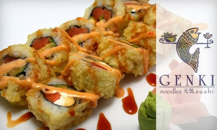 Genki Noodles and Sushi - Multiple Locations: $15 for $30 Worth of Japanese Fare at Genki Noodles and Sushi at Buckhead and Prado Locations