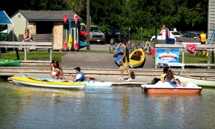 Erie Canal Boat Company - Fairport: $30 for Two-Hour Kayak, Canoe, or Paddleboat Rental for Two from Erie Canal Boat Company in Fairport ($60 Value)