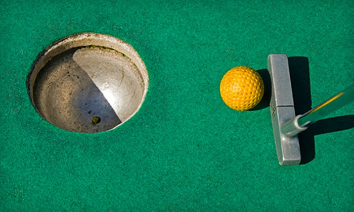 Novelty Golf & Games – AKA Bunny Hutch - Lincolnwood: 18-Hole Mini-Golf Outings at Novelty Golf & Games in Lincolnwood. Two Options Available.