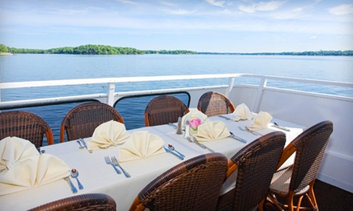 Queen of Excelsior - Multiple Locations: Scenic Cruises on Lake Minnetonka from Bayview Event Center. 15 Options Available.