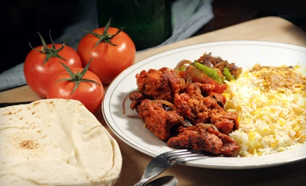 Indian- and Pub-Fare Dinner for 2 (up to a $51 total value) - The Venue in Walker