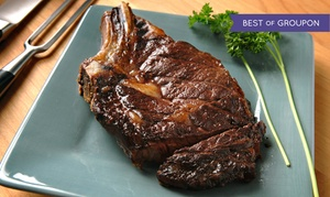 The Silver Flame Steakhouse: Prime Rib or Bone-In Rib Eye for Two or Four at The Silver Flame Steakhouse (46%)