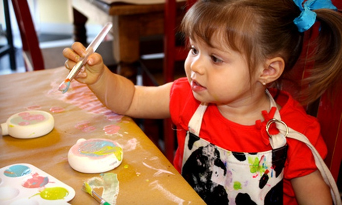 The Art Barn Studio - Mountain Valley Lake: $12 for $25 Worth of Paint-Your-Own-Pottery, Mosaics, and Wearable Art at The Art Barn Studio in Joshua