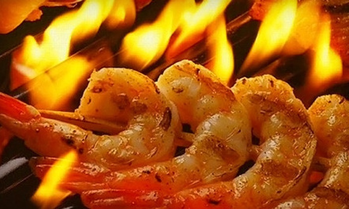 Greek Island Grill - Downtown Teaneck: $29 for a Greek Dinner with Appetizer for Two at Greek Island Grill in Hackensack (Up to $67 Value)