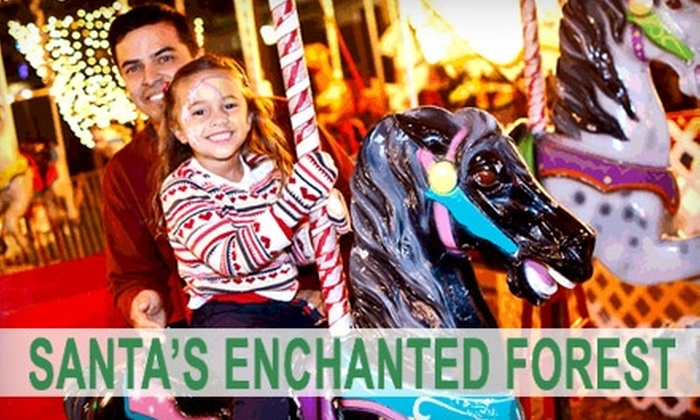 Santa's Enchanted Forest - Olympia Heights: $15 for Adult Ticket ($26 Value) or $9 for Child's Ticket ($18 Value) to Santa's Enchanted Forest in Miami
