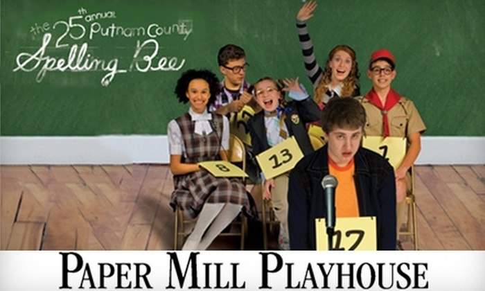 "Paper Mill Playhouse - Millburn: $33 for One Orchestra Ticket to ""The 25th Annual Putnam County Spelling Bee"" Musical and a Souvenir Cup at Paper Mill Playhouse (Up to $67 Value). Choose from Three Dates."