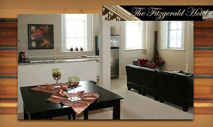 The Fitzgerald Hotel - Plattsmouth: One-Night Stay for Two at The Fitzgerald Hotel (Up to $109.99 Value). Choose from Two Options.
