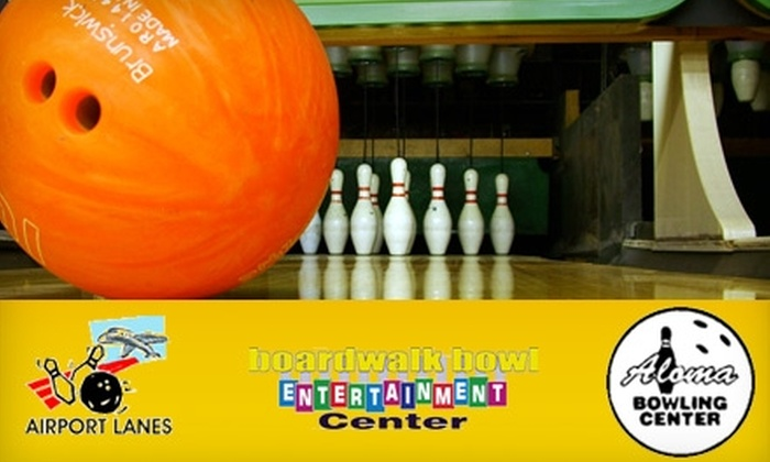 Aloma Bowling Centers - Multiple Locations: $9 for Two Games of Bowling, Shoe Rental, and a Pizza at Aloma Bowling Centers ($18 Value)