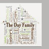 Personalized Family Word-Art Canvas (Up to 52% Off)