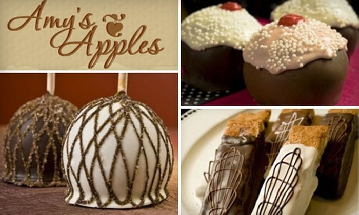 Amy's Apples & Devilish Delights - Smithfield: $25 for $50 Worth of Chocolate and Caramel Apples, Cookies, and More at Amy's Apples & Devilish Delights