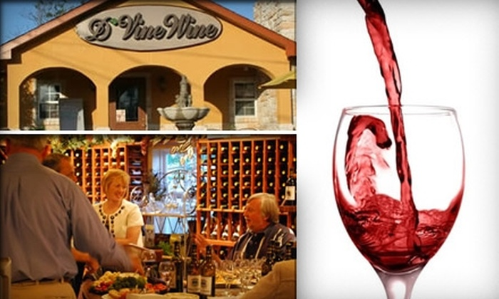 D'Vine Wine - Kemah: $180 for Custom Wine Tasting and More for Eight at D'Vine Wine (Up to $400 Value)