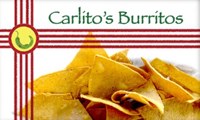 Carlito's Burritos - Paradise: $15 Worth of New Mexican Eats and Drinks at Carlito's Burritos