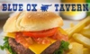 Blue Ox Tavern - Multiple Locations: $10 for $20 Worth of Bar Grub and Drinks at Blue Ox Tavern, Blue Ox Central, or Blue Ox East. Choose One of Three Locations.