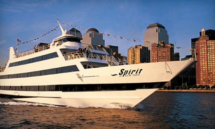 Entertainment Cruises - Multiple Locations: Three-Hour Weeknight or Weekend Dinner Cruise on the Spirit of New York or the Spirit of New Jersey from Entertainment Cruises