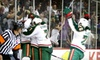 Houston Aeros - Downtown: $25 for Two Corner Seats with Club Access Tickets, Parking, and Photo from Houston Aeros (Up to $95 Total Value). Choose from Five Games.