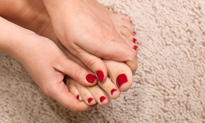 Nails By Hanna - Hanna Rearden - Burnettown: No-Chip Manicure and Pedicure Package from Nails by Hanna (55% Off)