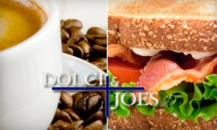 Dolci and Joes - College Hill: $6 for $15 Worth of Coffeehouse Fare and Beverages at Dolci and Joes