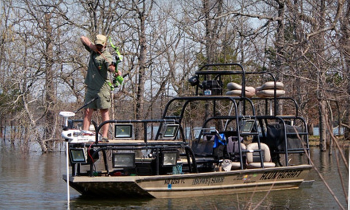The Bowfisher - Pomme de Terre Lake: Four-Hour Bowfishing Outing with Snacks for Two or Four from The Bowfisher in Hermitage (Up to 75% Off)