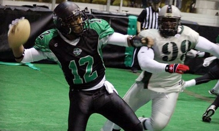 Dayton Silverbacks - Trotwood: $12 for Two Tickets to Dayton Silverbacks Indoor Football Game at Hara Arena on Friday, May 13, at 7:30 p.m. (Up to $24 Value)